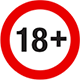 18 + Logo