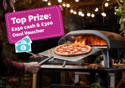 £300 Ooni Pizza Oven Voucher & £250 cash